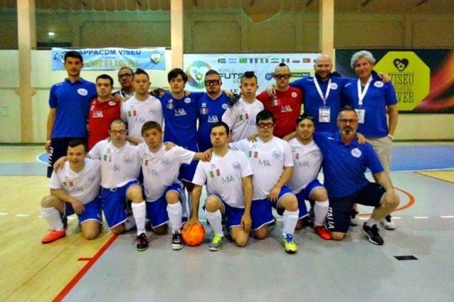 Calcio a 5, la Nazionale italiana dei ragazzi Down campione del mondo