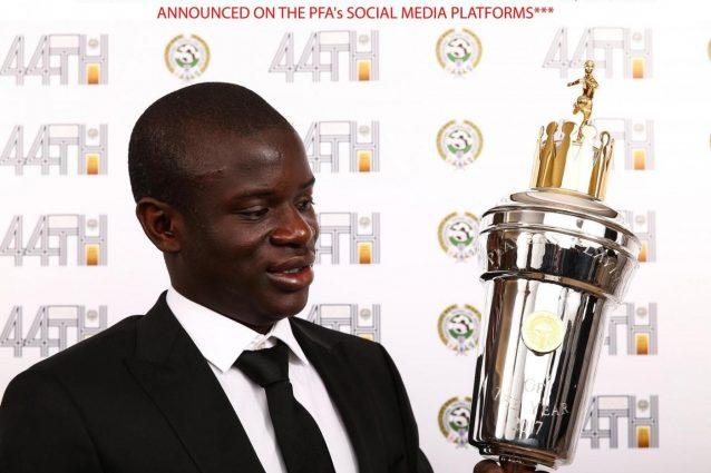 Premier League: Kanté eletto giocatore dell'anno. Alli miglior giovane