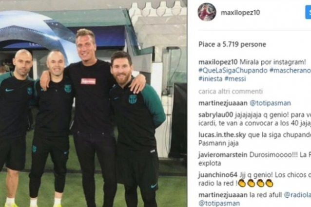 Il messaggio su Instagram smentito da Maxi Lopez