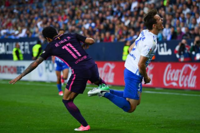Barça da incubo: ko a Malaga, Neymar espulso e niente aggancio al Real