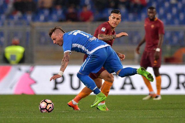 All'intervallo è 1-0 Roma