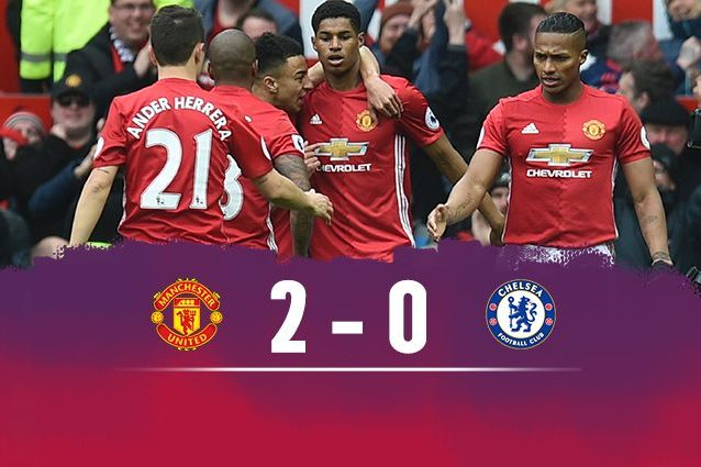 Lo United batte il Chelsea 2-0