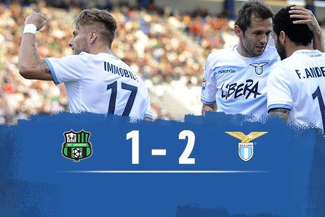 Lazio batte Sassuolo 2-1