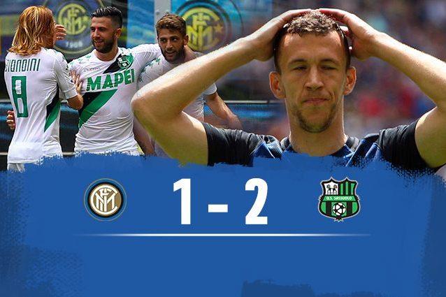 Sprofondo Inter: il Sassuolo vince e cancella i nerazzurri dall'Europa