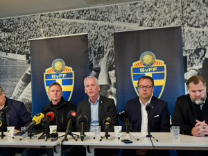 La conferenza stampa della Federazione – Fonte: Twitter Goteborg