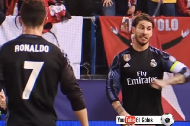 Il video che inchioda Sergio Ramos: consigli a Cr7 per far espellere Godin