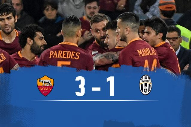 Roma batte Juventus 3-1