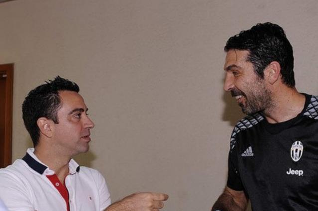 "Xavi tifa Juve: ""Spero che Buffon vinca la Champions League"""