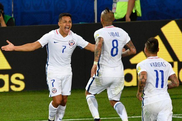 Confederations Cup, il Cile batte il Camerun 2-0: gol di Vidal, Vargas