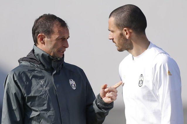 Juventus Bonucci e Mister Allegri: valutano altre mete possibili