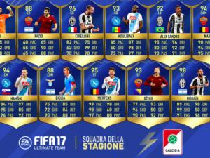 """Fifa 17, ecco la """"Squadra della stagione"""": i migliori undici della Serie A"""