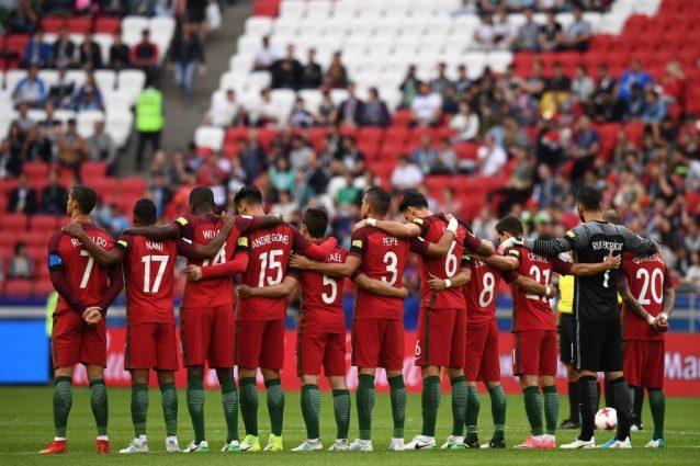 Lutto al braccio e minuto di raccoglimento del Portogallo