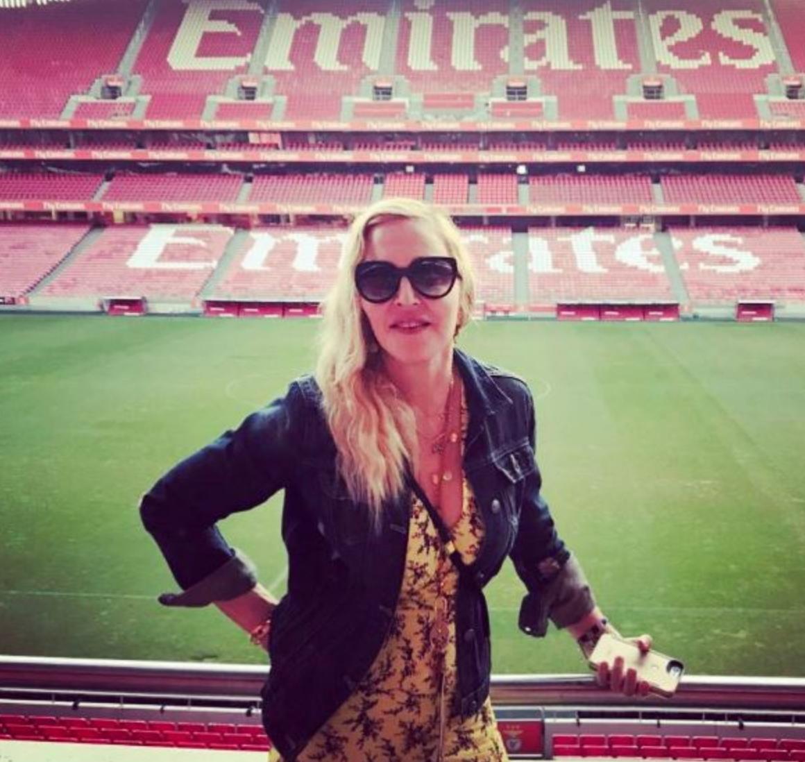 Madonna allo'Estadio da Luz, la casa del Benfica