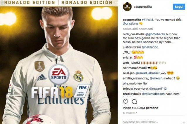 Fifa 18, Cristiano Ronaldo testimonial ufficiale