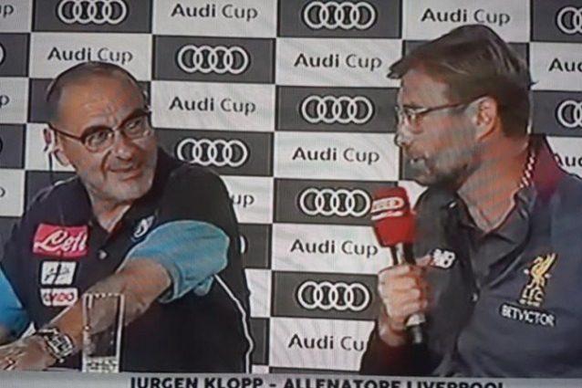 Maurizio Sarri sull'Audi Cup: