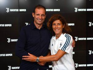 Juventus, Allegri dà il benvenuto alla formazione femminile