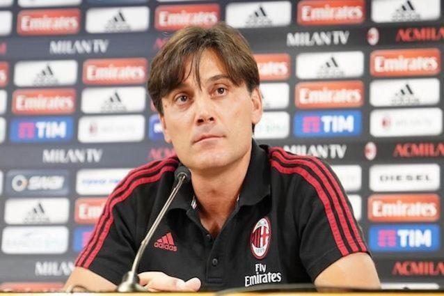 Il Milan è in Europa League, Montella:
