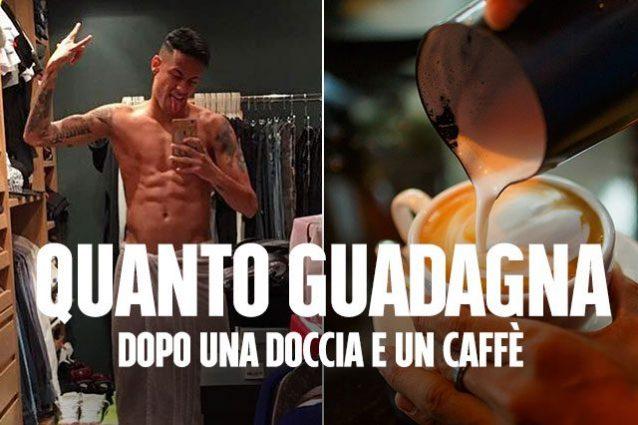 Neymar, quanto guadagna al Psg: fa una doccia, beve un caffè e ha già 3 mila euro in tasca