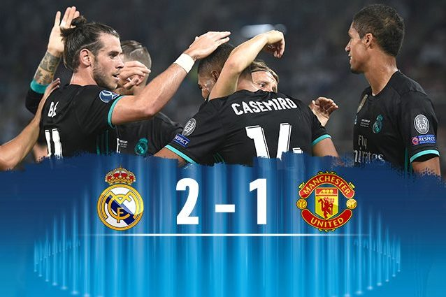 Il Real Madrid batte il Manchester United e vince la Supercoppa Europea