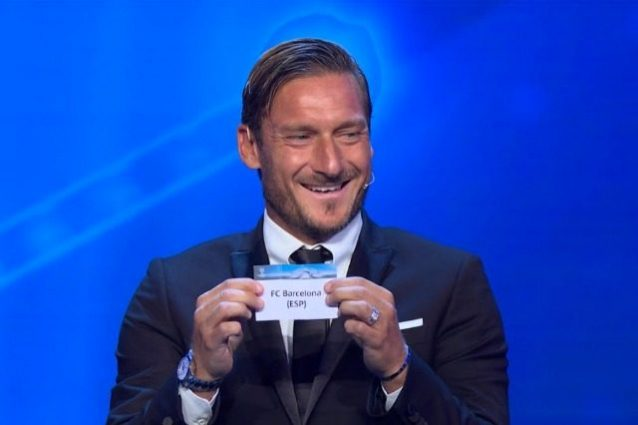 La Juventus pesca il Barcellona. Totti se la ride