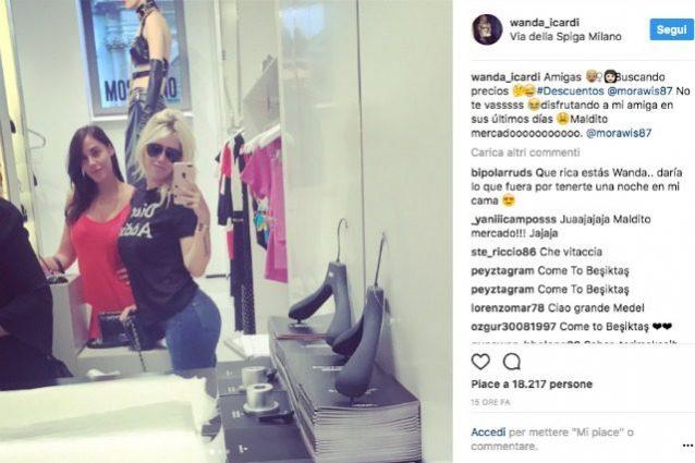 """Wanda Nara saluta Carolina e annuncia l'addio di Medel: """"Maledetto mercato"""""""