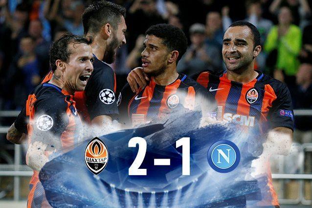 Napoli battuto 2-1 dallo Shakhtar