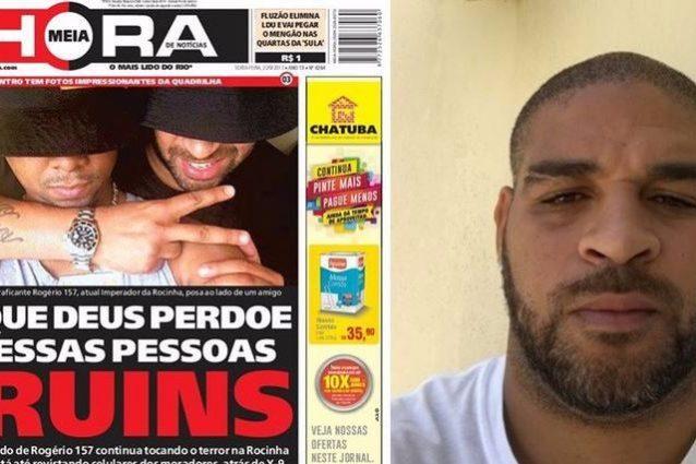 Adriano nella bufera: in foto abbraccia un boss del narcotraffico ricercato