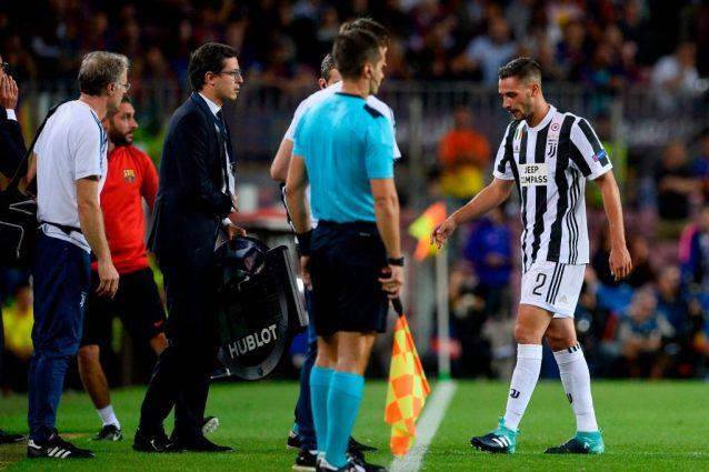 Juventus, le ultime su De Sciglio: i tempi di recupero