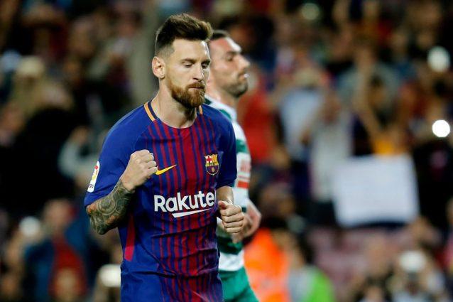 Poker di Messi all'Eibar: 302 goal al Nou Camp. Quinta vittoria di fila in Liga del Barça
