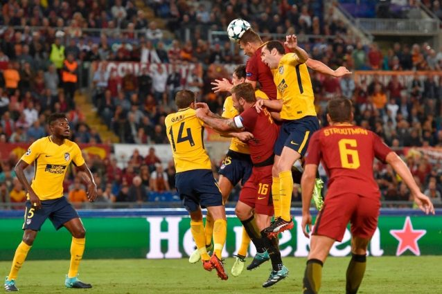Roma-Atletico Madrid, Di Francesco salvato da Alisson. Male Dzeko, Saul che combini