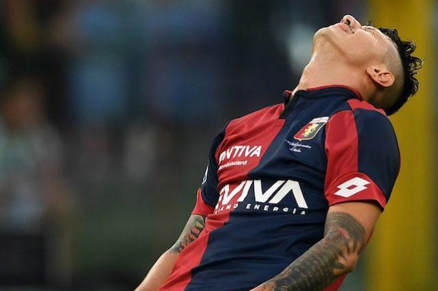 """Genoa, infortunio e lacrime per Lapadula. Juric: """"Sembra grave"""""""