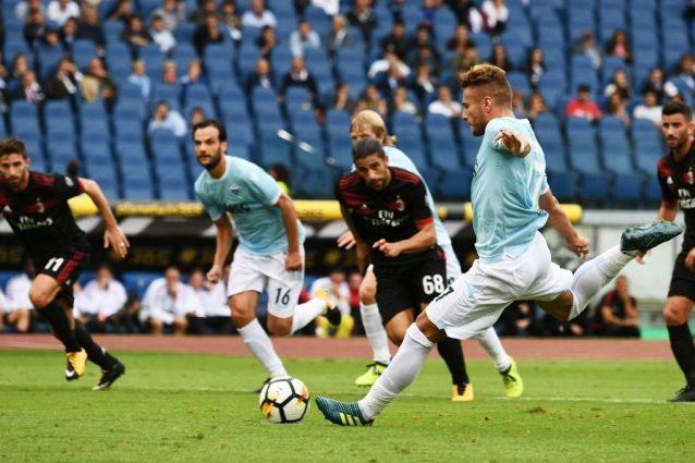 Immobile, 6 tiri e 3 gol spaccano il Milan. Montella, naufraga il cantiere del 4-3-3