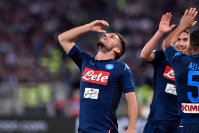 """Mertens e l'esultanza contro la Lazio: """"E' il gesto di bere con gli amici"""""""