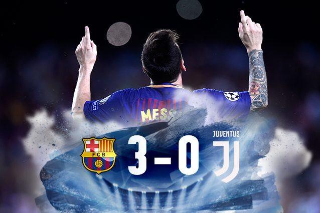 Barcellona batte Juventus 3-0