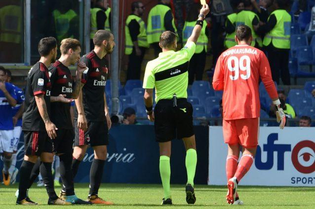 Samp-Milan, bestemmie in campo: Donnarumma graziato dal Giudice Sportivo