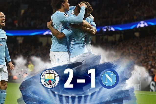 Manchester City-Napoli 2-1