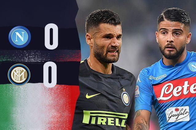 L'Inter regge l'urto e stoppa il Napoli: 0-0 al San Paolo