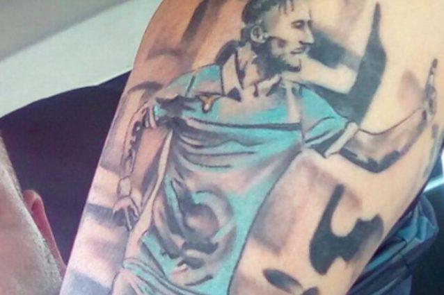 Lazio, Immobile nel cuore di tutti: un tifoso lo celebra con un tatuaggio