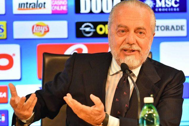"De Laurentiis: ""Juve nervosa, VAR utilissimo. Bonucci? Che errore cederlo"""