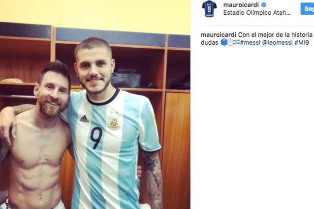 """Icardi coccola Messi: """"Con il migliore al mondo senza dubbio"""""""
