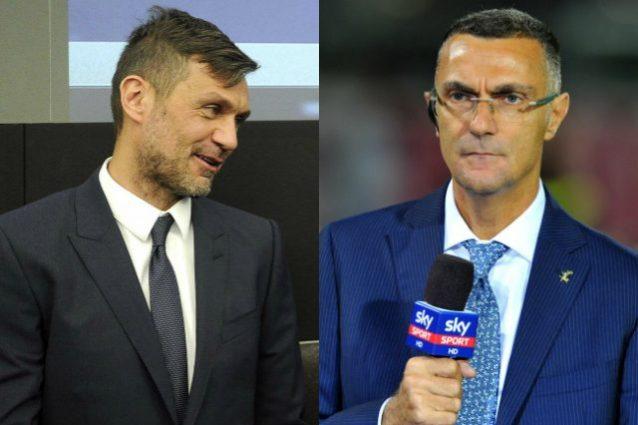 Inter-Milan, Maldini e Bergomi giocano il derby della Madonnina
