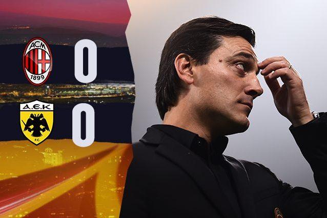 Milan, è un pianto greco: con l'Aek finisce 0-0 tra i fischi dei tifosi