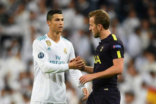 Tottenham, felicità Kane: gol al Bernabeu e la maglia di Cristiano Ronaldo