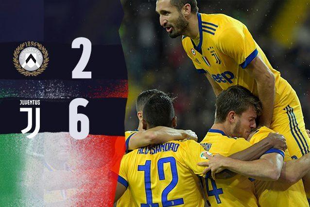 Juventus, Allegri più forte di tutto: stravince a Udine in 10 uomini