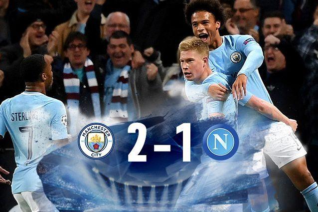 Napoli inizio shock a Manchester: il City impiega solo 14 minuti per chiudere il match