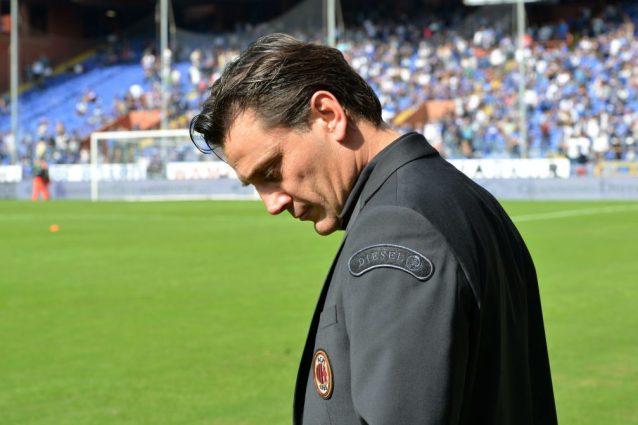 Milan, incontro in corso con Montella