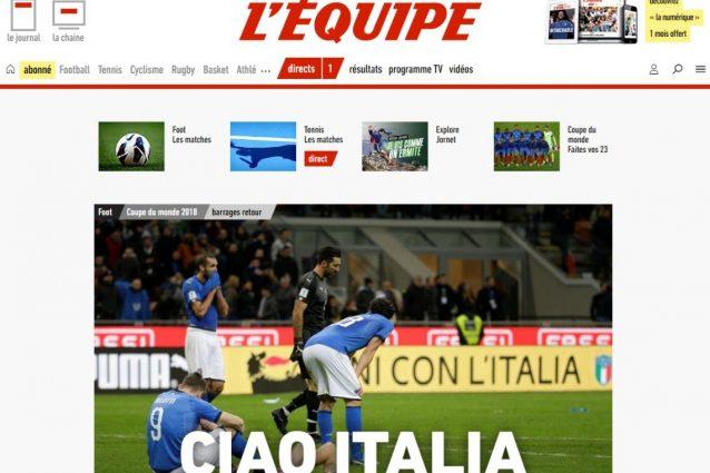 """""""Ciao Italia"""", """"Italien Raus"""": Francia e Germania, titoli beffardi per il flop Azzurro"""