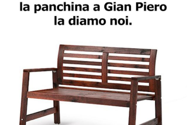 """Italia, l'Ikea sfotte Ventura: """"Te la diamo noi una panchina"""""""