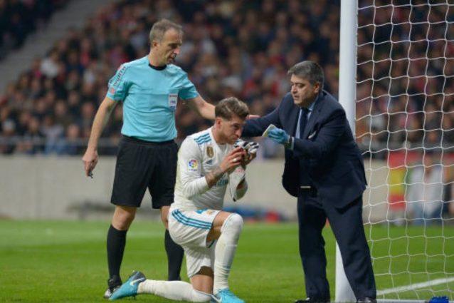 Calcio in faccia di Hernandez nel derby, setto nasale rotto per Sergio Ramos