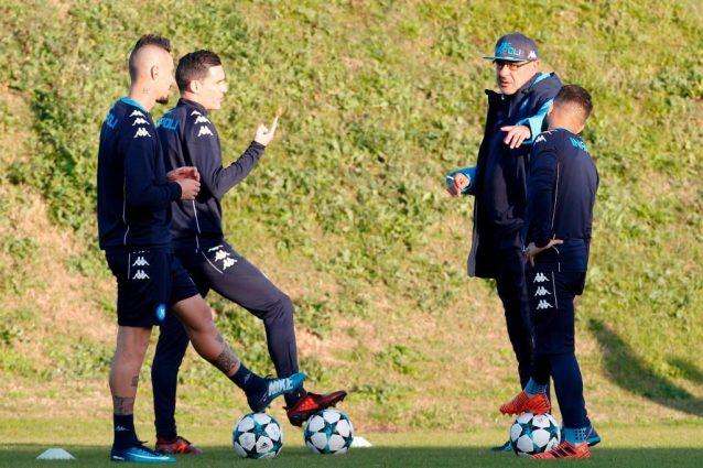 Napoli, Sarri: ''Dimostrato che alla Champions ci teniamo''